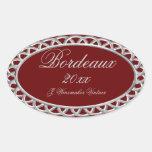 Etiqueta hecha en casa del vino de Borgoña y de la
