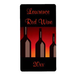 Etiqueta hecha en casa del vino de las botellas de etiquetas de envío