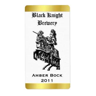 Etiqueta hecha hogar de la cerveza del caballero etiquetas de envío