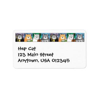 Etiqueta Hep de Avery de la dirección del gato Etiqueta De Dirección