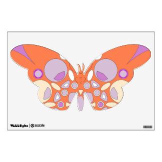 Etiqueta hermosa de la pared de la mariposa del co