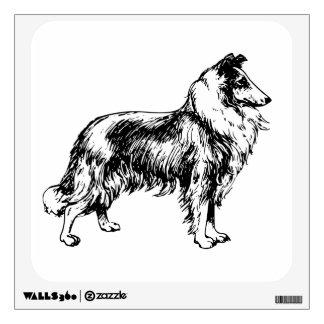 Etiqueta hermosa de la pared del ejemplo del perro vinilo decorativo