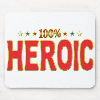 Etiqueta heroica de la estrella tapete de ratones