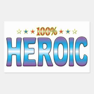 Etiqueta heroica v2 de la estrella