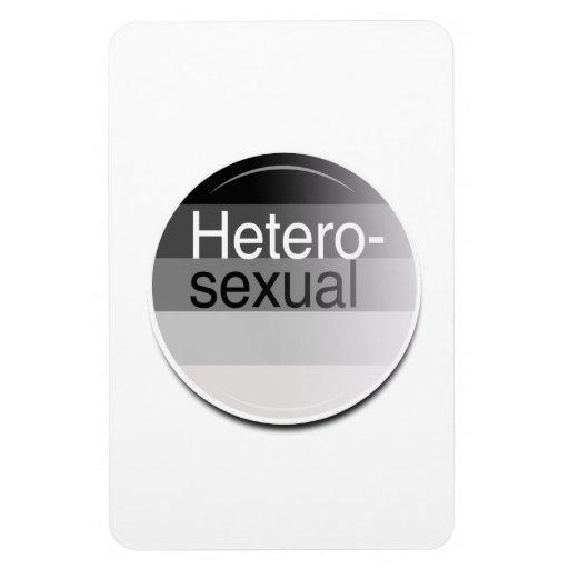 Etiqueta heterosexual imanes