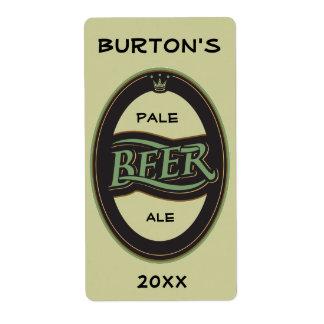 Etiqueta Homebrewed de la cerveza Etiqueta De Envío