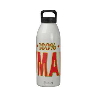 Etiqueta humana de la estrella botellas de beber