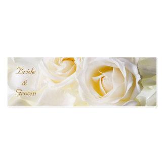 Etiqueta ideal de oro del favor del boda plantilla de tarjeta de visita