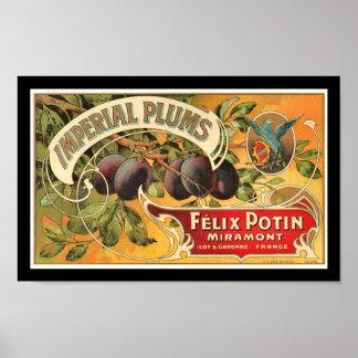Etiqueta imperial del cajón de la fruta de los póster