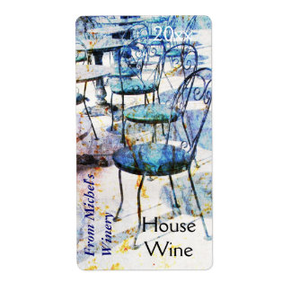 Etiqueta impresionista francesa del vino del café  etiqueta de envío