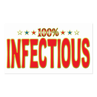 Etiqueta infecciosa de la estrella tarjetas de visita