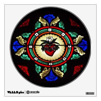 Etiqueta inmaculada de la pared del corazón vitra