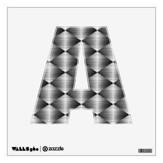Etiqueta inoxidable de la pared del alfabeto