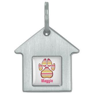 Etiqueta inspirada tribal del mascota de la impres placa de mascota