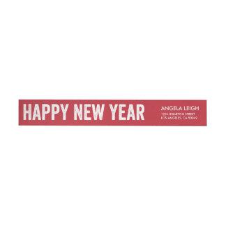 Etiqueta intrépida del remite del Año Nuevo Etiquetas Para Remite