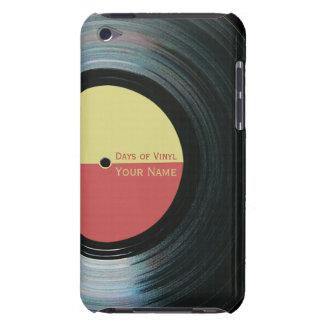 Etiqueta iPod 4G del amarillo del efecto del Barely There iPod Coberturas