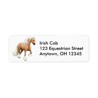 Etiqueta irlandesa del caballo de la mazorca etiqueta de remite
