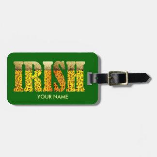 Etiqueta IRLANDESA del equipaje de la cerveza Etiquetas Para Equipaje