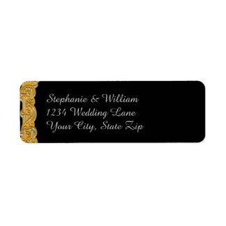 Etiqueta irlandesa del remite del oro y del boda etiqueta de remitente