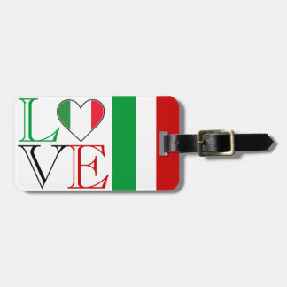 Etiqueta italiana del equipaje del amor