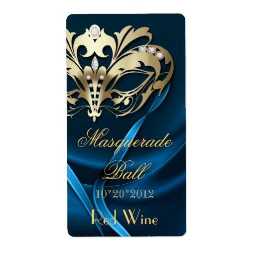 Etiqueta Jeweled azul del vino del día de fiesta Etiquetas De Envío