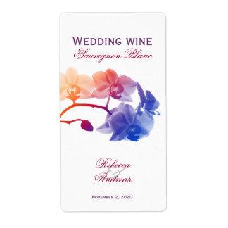 Etiqueta joven personalizada vino del boda etiquetas de envío