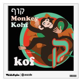 Etiqueta-Kof de la pared del alfabeto hebreo