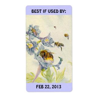 Etiqueta las abejas de la miel que conservan cocer etiqueta de envío