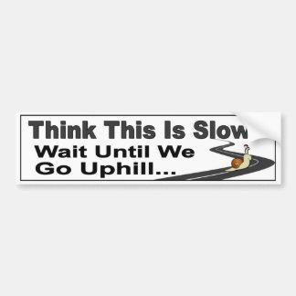 Etiqueta lenta divertida del coche del conductor. pegatina para auto