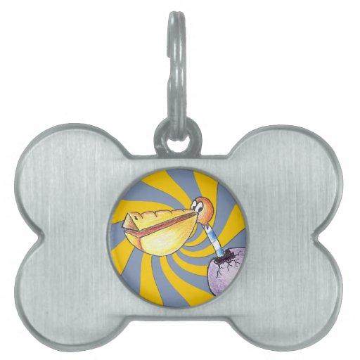 Etiqueta libre del hueso de la rotura placas de nombre de mascota