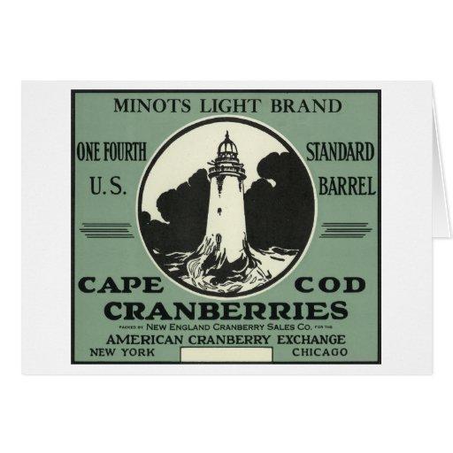 Etiqueta ligera del arándano de la marca de Cape C Tarjeta De Felicitación