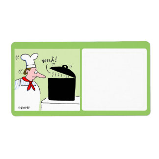Etiqueta linda del almacenamiento de la comida etiqueta de envío