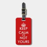 Etiqueta linda del equipaje de KeepCalm para los v Etiquetas Para Equipaje