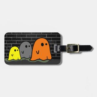 Etiqueta linda del equipaje de los fantasmas de etiqueta para equipaje