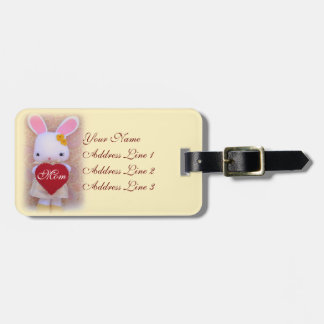 Etiqueta linda del equipaje del día de madre del c etiqueta de maleta