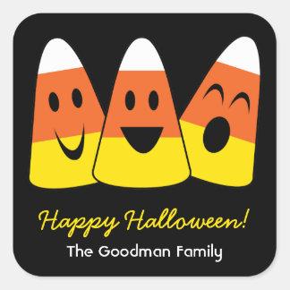 Etiqueta linda del favor de Halloween de la divers