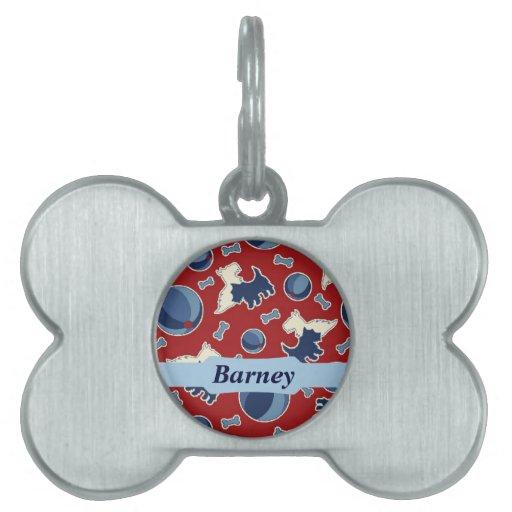 Etiqueta linda del mascota de Terrier del escocés Placas De Mascota