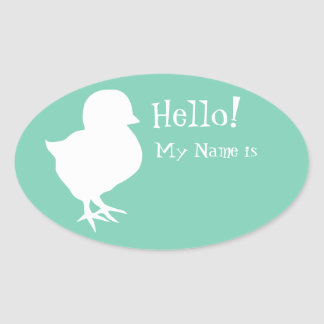 Etiqueta linda del nombre del polluelo