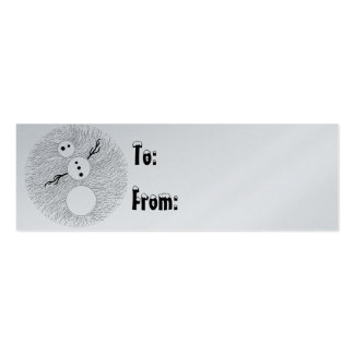 Etiqueta linda del regalo de vacaciones del tiempo plantilla de tarjeta de negocio