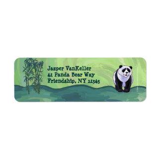 Etiqueta linda del remite del frente del oso de etiquetas de remite