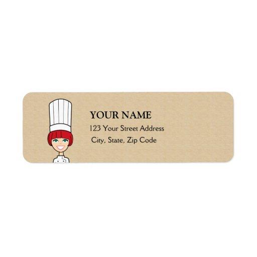 Etiqueta linda del remite del panadero etiqueta de remite
