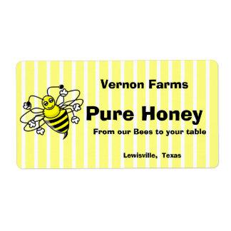 Etiqueta linda del tarro de la miel etiqueta de envío