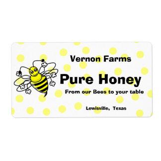 Etiqueta linda del tarro de la miel etiquetas de envío