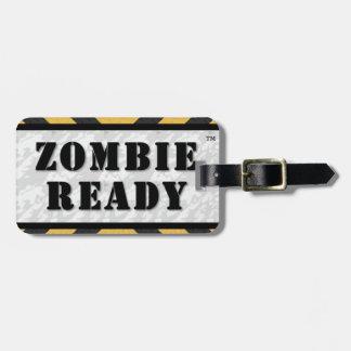 Etiqueta lista del equipaje del zombi/etiqueta del