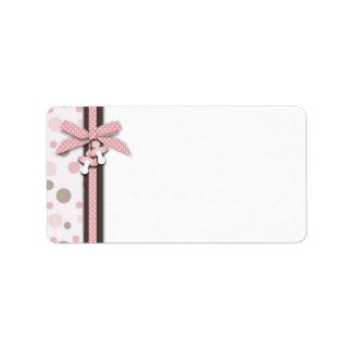 Etiqueta M del regalo del chica Etiqueta De Dirección