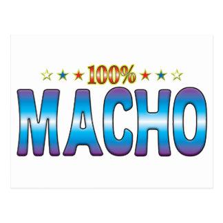 Etiqueta machista v2 de la estrella tarjetas postales