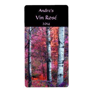 Etiqueta mágica del vino del bosque etiqueta de envío