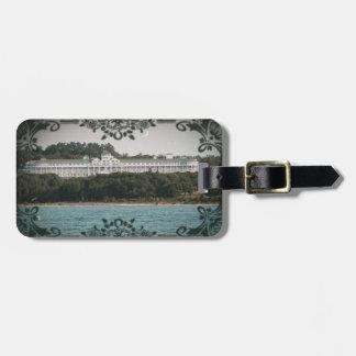 Etiqueta magnífica del equipaje de la isla de etiquetas bolsas