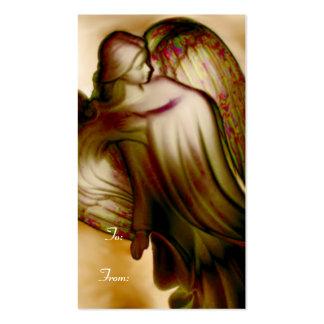 Etiqueta majestuosa de oro del regalo del ángel tarjetas de visita