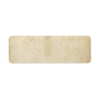 Etiqueta manchada antigüedad en blanco del papel etiquetas de remite
